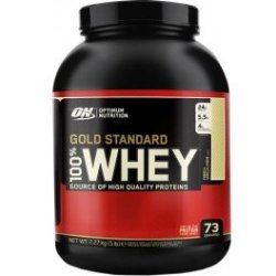 Optimum Nutrition Proteína On 100 Whey Gold Standard 5 Lbs (2 27 Kg) Sabor Vainilla Ice Cream