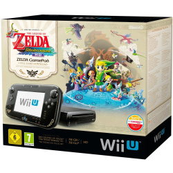Nintendo Wii U negro 32GB Diseño The Legend of Zelda sin juego