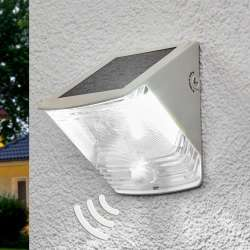 Aplique de pared LED solar SOL 04 IP44 blanco