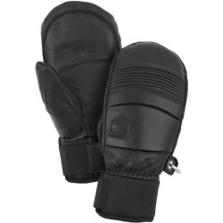 Hestra Leather Fall Line Mittens negro