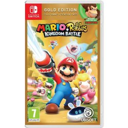 Nintendo Switch Juego Mario Rabbids Kingdom Battle Gold Edition Solo Ingles