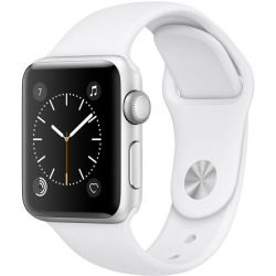 Apple Watch Series 2 38mm Caja de aluminio en plata con correa deportiva blanca Wifi