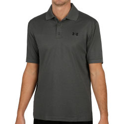 Under Armour Performance Polo Hombres Gris Blanco