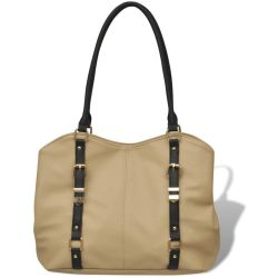 vidaXL Bolso color beige