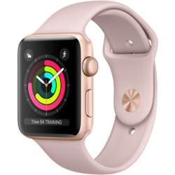 Apple Watch Series 3 42mm Caja de aluminio en oro con correa deportiva arena rosa Wifi