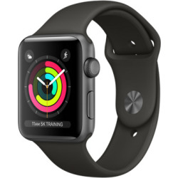 Apple Watch Series 3 42mm Caja de aluminio en gris espacial con correa deportiva gris Wifi
