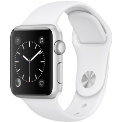 Apple Watch Series 1 38mm Caja de aluminio en plata con correa deportiva blanca Wifi