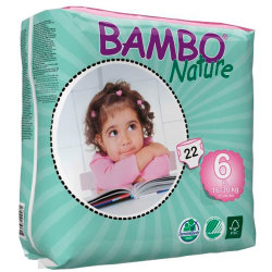 Pañales Bambo Nature XL 16 30Kg 22Uds