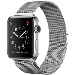 Apple Watch Series 2 42mm Caja de acero inoxidable plata con pulsera Milanese Loop plata Wifi