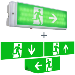 Aplique de salida de emergencia con LED IP65 Emergency 2
