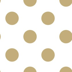 Kids at Home Papel de pared Dotty Gold blanco y dorado 100105