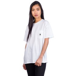 Carhartt WIP Carrie Pocket T Shirt blanco